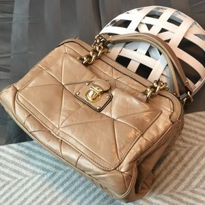 Marc Jacobs Purse Tan Quilted Leather